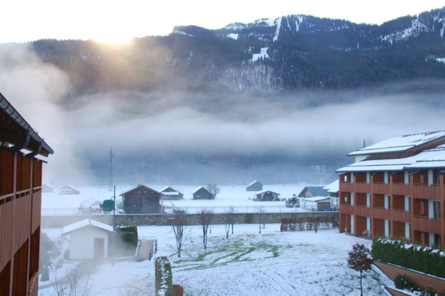 A view from our room at Edelweiss, our home-away-from-home while we were in Germany.  Who wouldn't love living here?!?