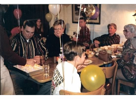 My 18th birthday party.  Mike is in the far left, beside his bride, Sybil.