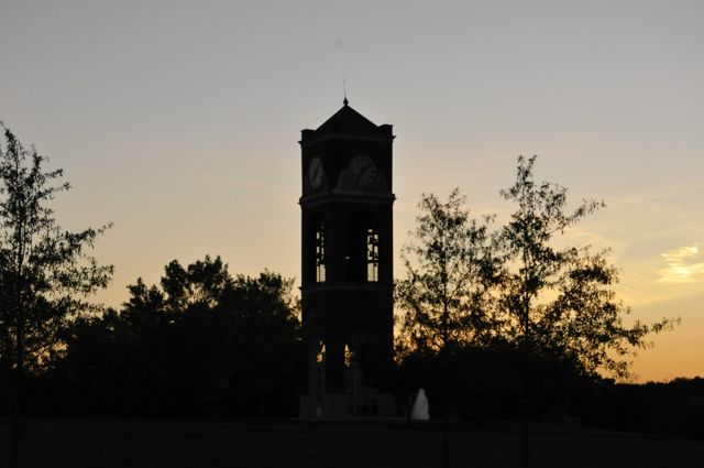 The Bell tower.  They were building this when we arrived.  It's always been a part of our GWU experience.