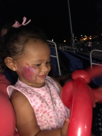 First face painting and balloon animal
